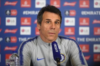 Zola to leave Chelsea with Sarri