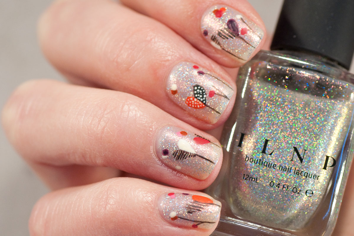 Whimsical Valentine's Day Nail Art with ILNP Rosewater