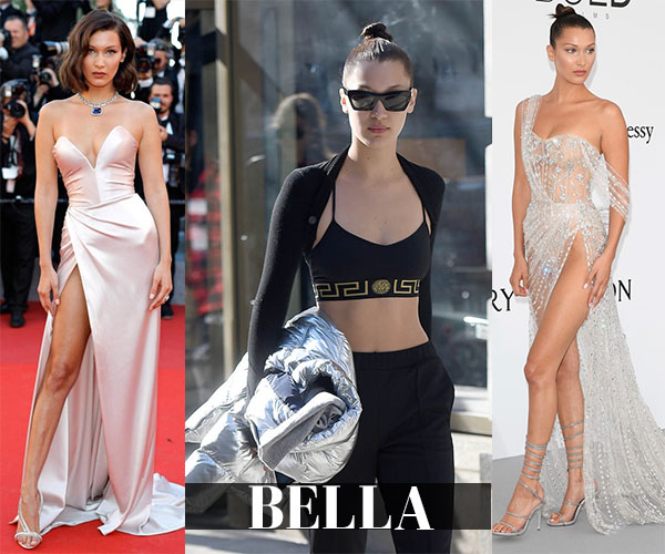 Bella Hadid shop her closet streetstyle red carpet outfits