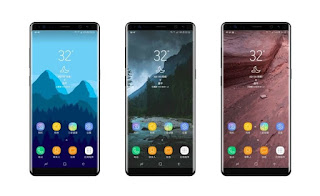 Leaked Render Suspected Galaxy Note 8 Show Infinity Display