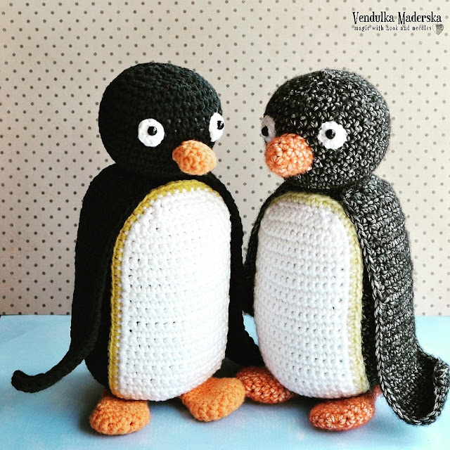 crochet penguin pattern by Vendulka Maderska