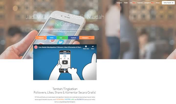 menambah followers instagram dengan Followersgratis.co.id
