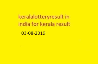 nirmal lottery sthree sakthi lottery result 2019-08-03