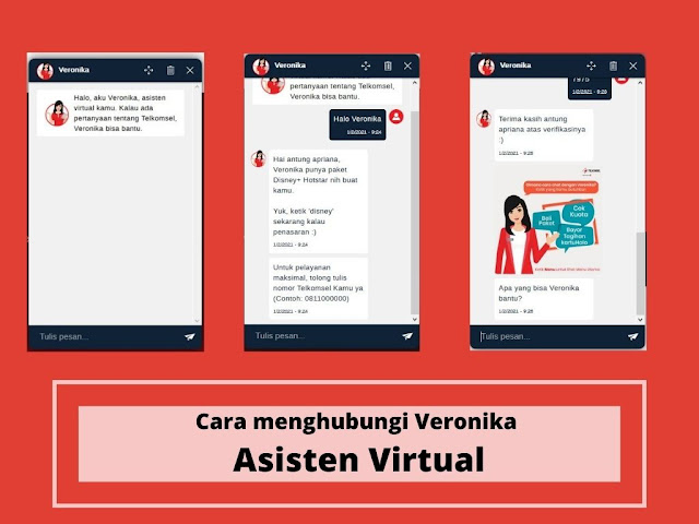 menghubungi veronika asisten virtual