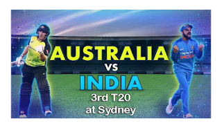 Today Match Prediction India vs Australia 3rd T20