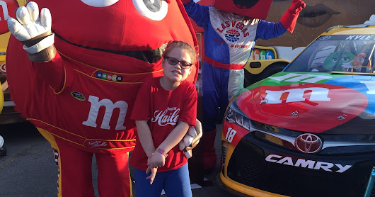 Hailey goes to Nascar!
