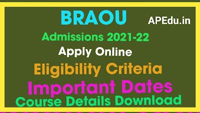 Dr BR Ambedkar Open University  Degree Admissions 2021-22 Apply / Register Online