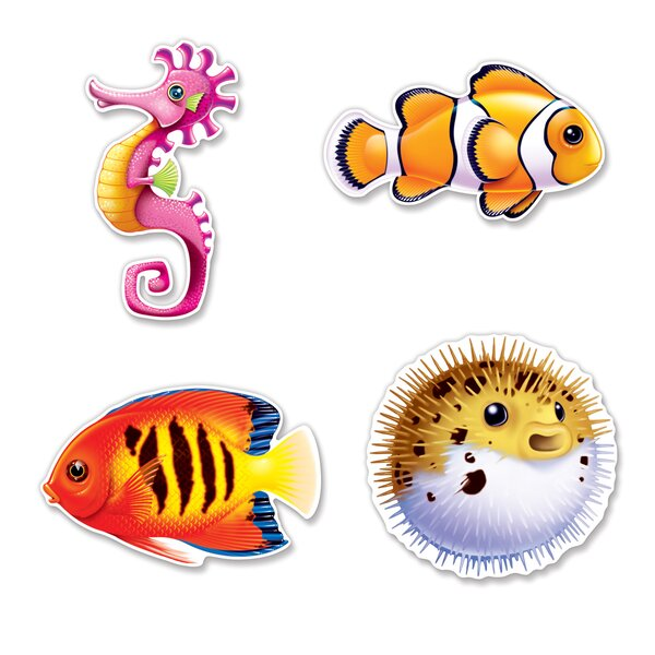 Under The Sea Fish Cutouts Wall Décor