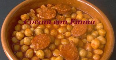 Cocina con emma garbanzos con chorizo en 15 minutos for Cocinar garbanzos con chorizo