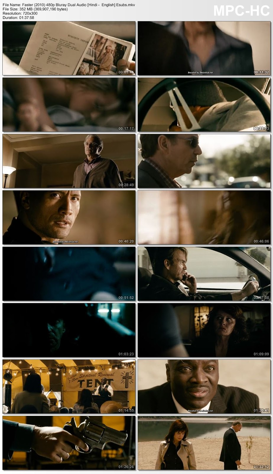 Faster (2010) 480p BluRay Dual Audio [Hindi – English] ESubs 350MB Desirehub
