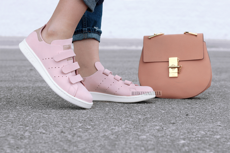 Adidas Stan Smith Velcro Pink Blogger Style