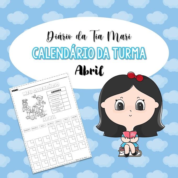 Calendário da Turma - Abril