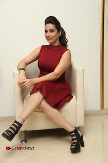 Telugu Tollywood Anchor Manjusha Pos in Red Short Dress  0104.JPG