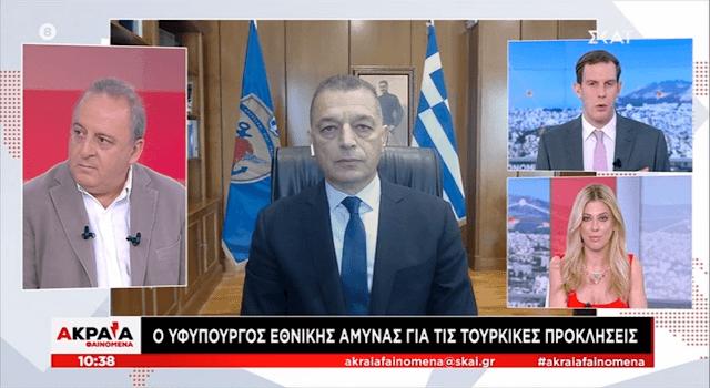 Ο ΥΦΕΘΑ Αλκιβιάδης Στεφανής σε συνέντευξη στον Τ/Σ ΣΚΑΙ