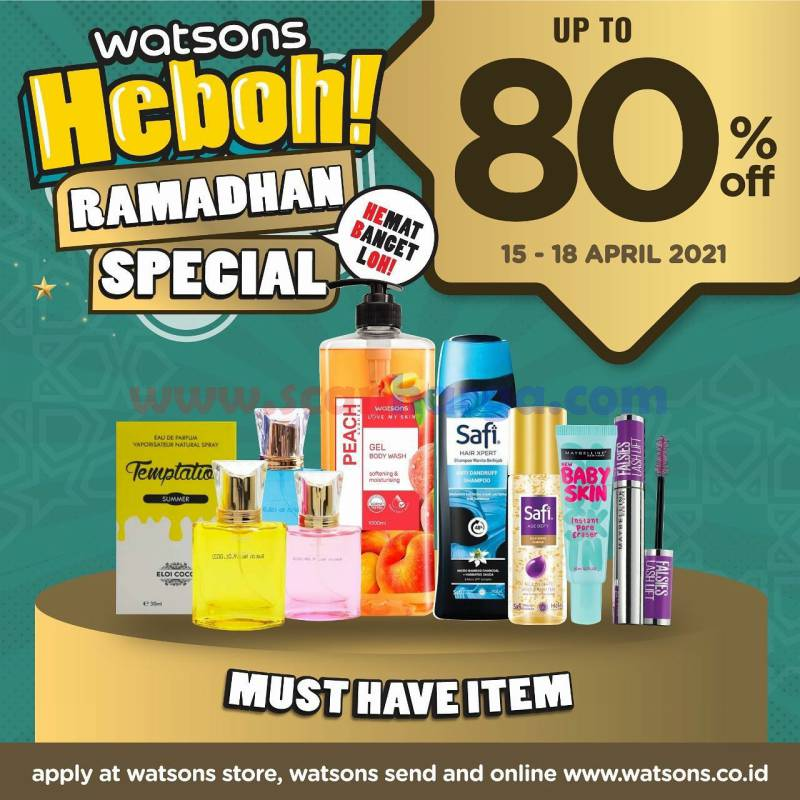 Promo Jsm Watsons Weekend Special (WES) 15 - 18 April 2021