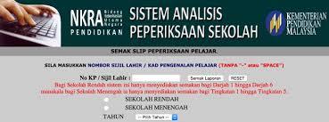SAPS Ibu Bapa Semakan Online Sistem Analisis Peperiksaan