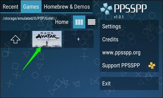 Cari file ISO di bawah 'Game'