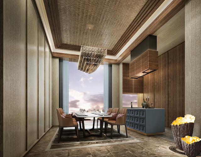 Phòng ăn dự án căn hộ laluna resort nha trang