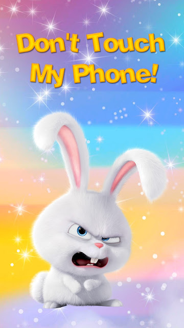 Cute rabbit Do not touch the wallpaper of my phone