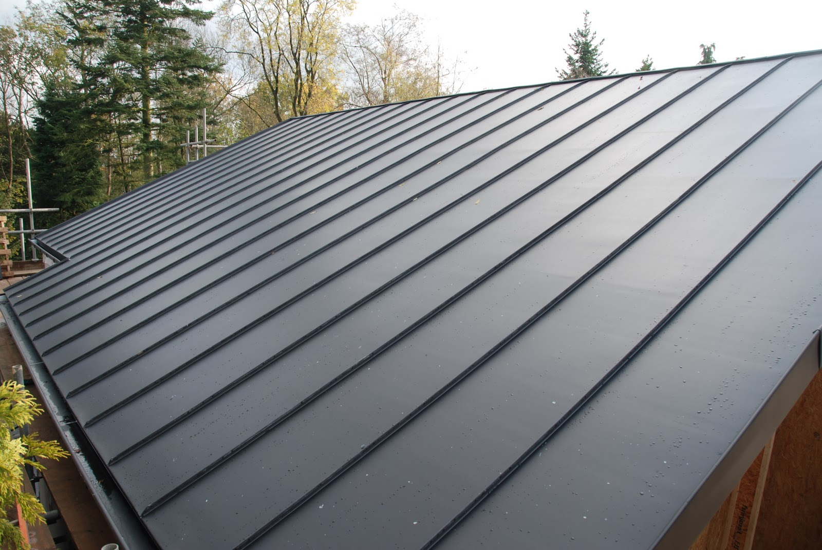 Flat Roof Fix Modern House Build In Surrey: Day 143 - Zinc roof and ...