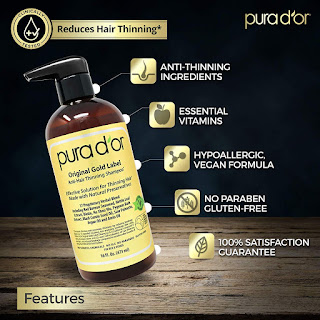 Original Gold Label Anti-Thinning Shampoo Clinically Tested, Infused with Argan Oil,