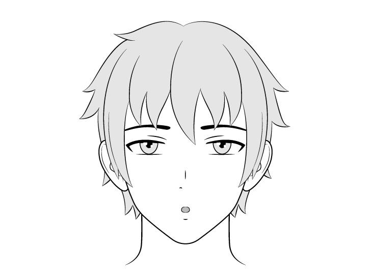 Orang anime menggambar wajah santai