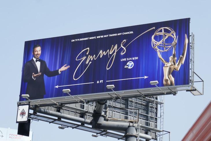 Jimmy Kimmel Emmys 2020 billboard