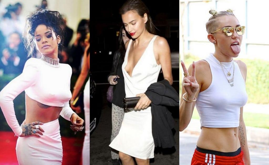 Среди звёзд модно не носить лифчик