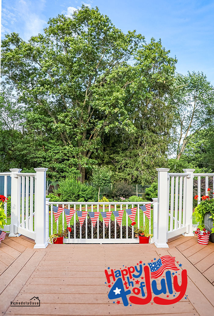 Backyard deck for fourth of July