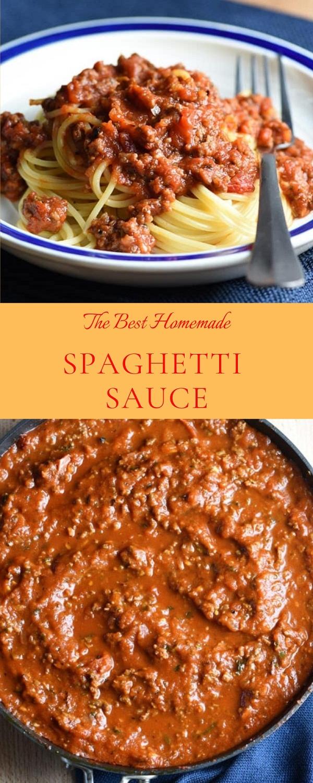 The Best Homemade Spaghetti Sauce