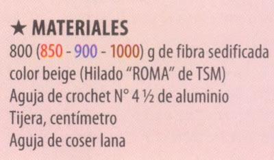 materiales para tejer el chaleco