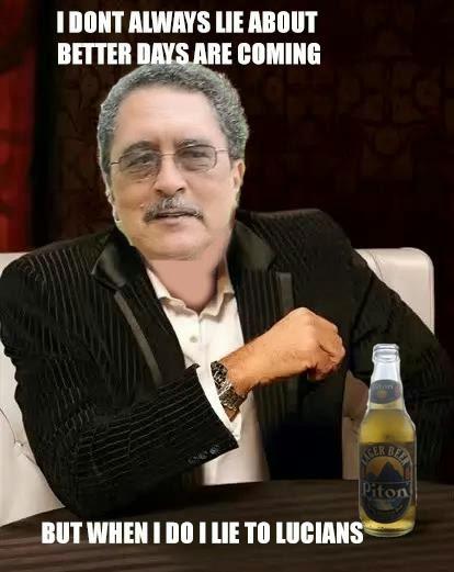 St Lucia Political Memes En Rouge Man