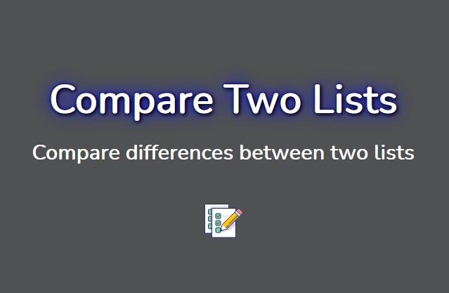 Vovsoft Compare Two Lists - Απλό, δωρεάν πρόγραμμα για σύγκριση δύο λιστών