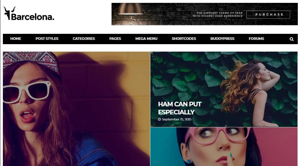 قالب برشلونة للمدونات والمجلات الإخبارية