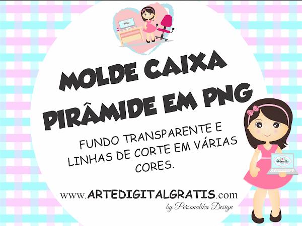 MOLDE CAIXA PIRÂMIDE EM PNG GRÁTIS