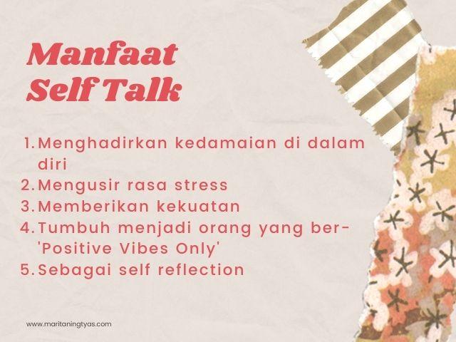 manfaat self talk untuk jiwa
