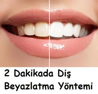 2 Dakikada Diş Beyazlatma Yöntemi