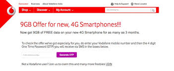 Vodafone offers a new offer, postpaid customers get 9gb free data every month