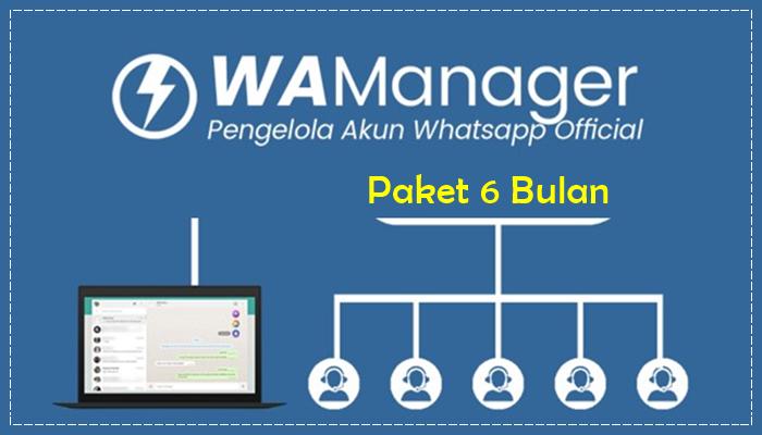 WA Manager Paket 6 Bulan
