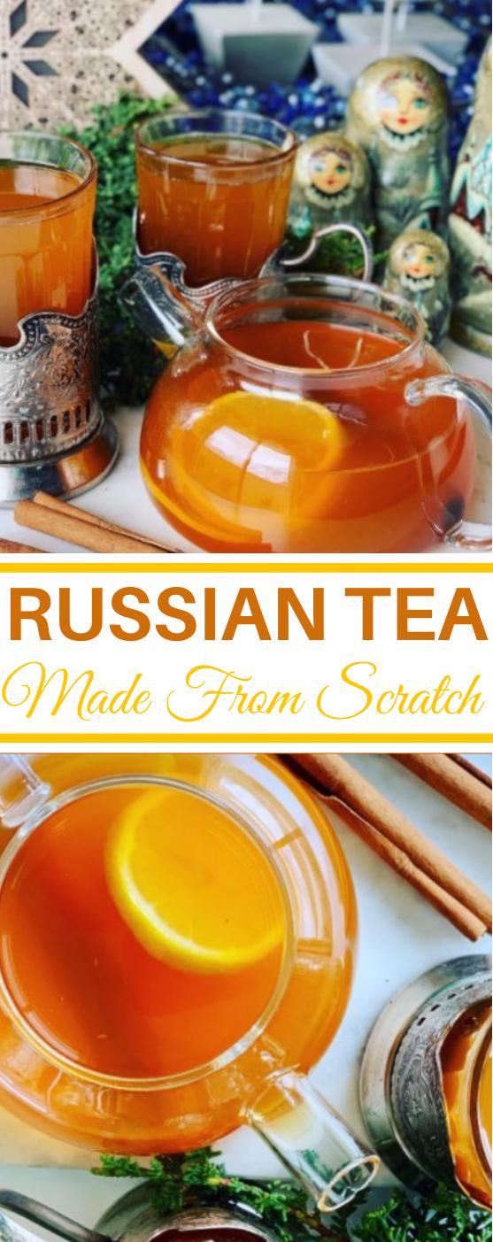 Citrus Spiced Russian Tea #drinks #recipes #tea #winter #beverages
