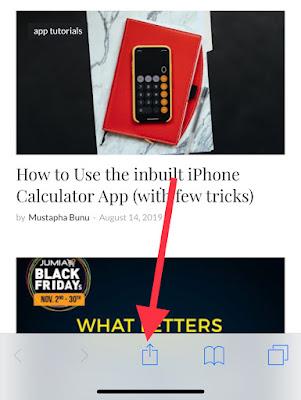 Safari share button