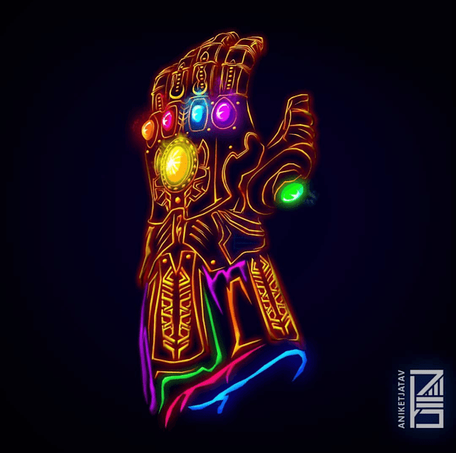 Thanos-Neon-HD-Wallpaper