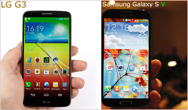 LG G3 vs Galaxy S5 Samsung Comparison of Specs and Features