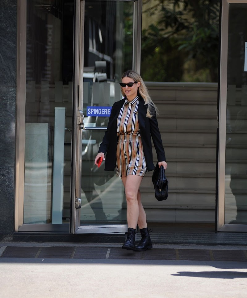 Michelle Hunziker, Clicked in Milan 4 MAy-2021