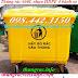 Thùng rác 660 lít nhựa HDPE 4 bánh xe màu vàng