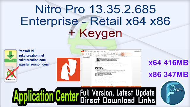 Nitro Pro 13.35.2.685 Enterprise – Retail x64 x86 + Keygen