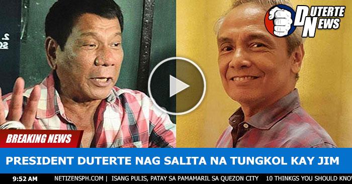 Duterte Nagsalita Na Tungkol Sa Kabastosang Ginawa ni Jim Paredes