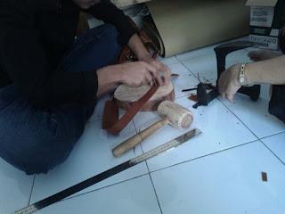 membuat tali tas kulit