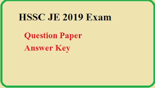 HSSC Junior Engineer Question paper answer Key