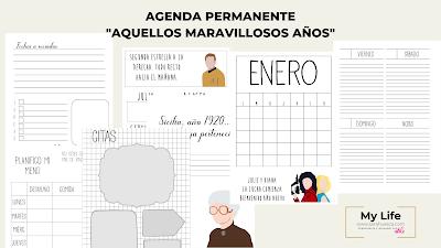 AGENDA, PERMANENTE, PDF, DESCARGAR, POWERPOINT, A4, A5,IMPRIMIR, EDITAR